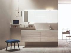 Mobile lavabo singolo sospeso in legno con cassetti HITO   Mobile lavabo singolo - Hito