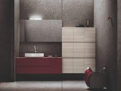 Mobile lavabo sospeso in multistrato con cassetti HITO   Mobile lavabo con armadio - Hito