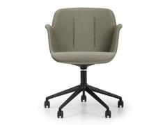Sedia ufficio girevole in tessuto con ruote su trespoloHIVE | Sedia ufficio con ruote - TRUE DESIGN