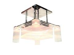 Lampadario a luce diretta fatta a mano in nichel HOFFMANN V | Lampadario - Hoffmann