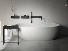 Vasca da bagno ovale in Korakril™ Blend Ice WhiteHOLE | Vasca da bagno centro stanza - REXA DESIGN