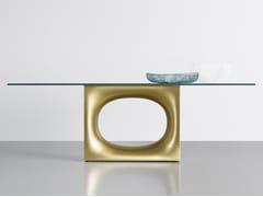 Tavolo rettangolare in vetro HOLO | Tavolo in vetro - Holo