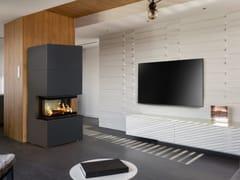 Kratki, HOME EASY BOX Caminetto a legna in acciaio con vetro panoramico