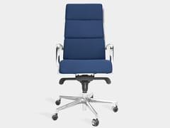 Sedia ufficio girevole in tessuto con braccioliHOME - REAL PIEL
