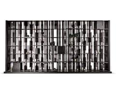 Libreria autoportante componibile in alluminio e legnoHONG KONG - CANTORI