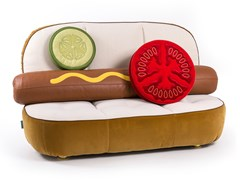 Divanetto in tessuto HOT DOG SOFA - SELETTI
