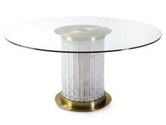 Tavolo da salotto rotondo in vetro HOWARD | Tavolo rotondo - Howard