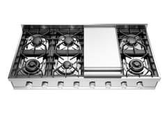Piano cottura a gas in acciaio inoxHCP120FD | Piano cottura - ILVE