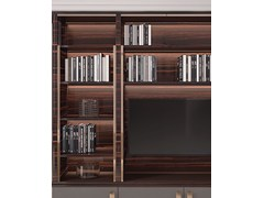 Libreria a giorno in legno con porta tv HUG | Libreria con porta tv - CAPITAL COLLECTION IS A BRAND OF ATMOSPHERA
