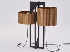 Lampada da tavolo in fibra di banano e pietra anticaHYPERBOLE   Lampada da tavolo - PAOLO CASTELLI