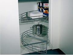 Accessorio interno per la cucina in acciaioCestello a mezzaluna girevole - WÜRTH