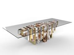 Tavolo da pranzo rettangolare in vetro temperatoHERITAGE | Tavolo da pranzo - BOCA DO LOBO