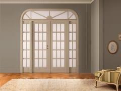 Porta laccata in legno massello e vetro con sopraluce I LACCATI - I Laccati