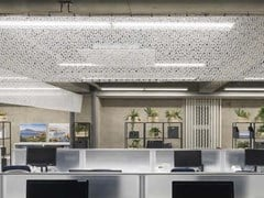 Soffitto teso in fibra minerale I-MESH® CEILING - SAILMAKER INTERNATIONAL