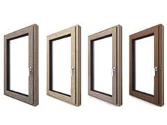INTERNORM Italia, I-TEC CORE Porta-finestra a battente a taglio termico a vasistas in alluminio e legno