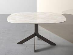 Tavolo quadrato in marmo con base a 4 razze IBLEA | Tavolo in marmo -