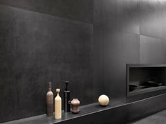Pavimento/rivestimento in gres porcellanato effetto pietraICÔNE BLEU Noir - ITALGRANITI