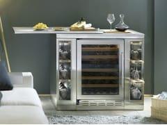 Cantinetta frigo a libera installazione verticale in acciaio inox con anta in vetro classe E ICB424GS WINE BAR | Cantinetta frigo - Cantine Vino