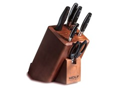 Set di coltelli in acciaio inox e ceppo in legnoICBWGCU100S | Ceppo coltelli - WOLF BY SUB-ZERO GROUP