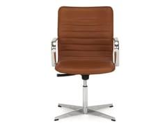 Sedie Da Ufficio In Pelle : Sedia ufficio operativa ad altezza regolabile in pelle a razze