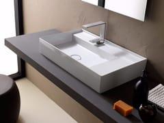 Lavabo da appoggio rettangolare in ceramica ICON 65x40 - Icon