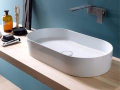 Lavabo da appoggio ovale in ceramica ICON STADIUM - Icon