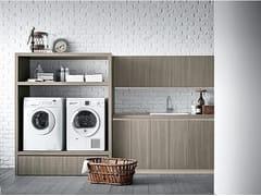 Birex, IDROBOX COMP. 13 Mobile lavanderia con ante a battente per lavatrice