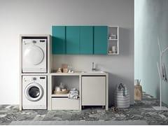 Mobile lavanderia a colonna con lavatoio IDROBOX | Mobile lavanderia componibile - Idrobox