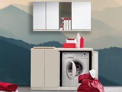 Birex, IDROBOX COMP. 14 Mobile lavanderia laccato con lavatoio