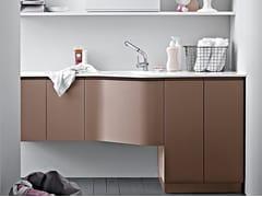 Birex, IDROBOX COMP. 16 Mobile lavanderia laccato con lavatoio