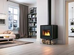 Stufa a legna per riscaldamento aria classe A+IKI SQUARE - PALAZZETTI LELIO