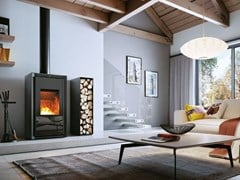 Stufa a legna per riscaldamento aria classe A+IKI UP - PALAZZETTI LELIO