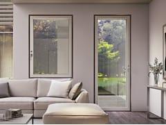 GINKO SAFE DESIGN, IKONA WOOD Serramento blindato in alluminio-legno a taglio termico