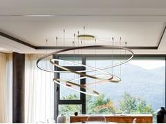 Lampada a sospensione a LED in metalloILLUSION - PATRIZIA VOLPATO