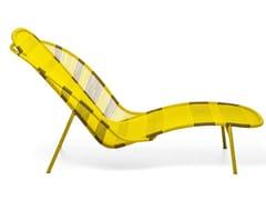 Chaise longue in fili colorati di polietilene intrecciatiIMBA - MOROSO