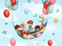 Carta da parati in JET TEX con paesaggi per bambiniIN THE AIR | Carta da parati - ACTE DECO