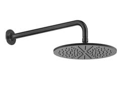 Soffione doccia ultrapiatto in ottone cromato con braccioINCISO | Soffione doccia ultrapiatto - GESSI