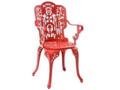 Sedia da giardino in alluminio con braccioliINDUSTRY | Sedia con braccioli - SELETTI