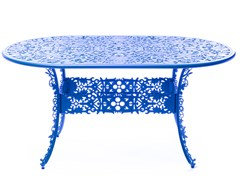 Tavolo da giardino ovale in alluminioINDUSTRY | Tavolo ovale - SELETTI