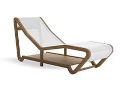 Lettino da giardino in teak e textilene INFINITY - ATMOSPHERA SOUL OF OUTDOOR