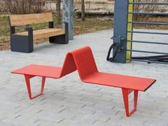Panchina in acciaio senza schienaleINFINITY   Panchina - PUNTO DESIGN