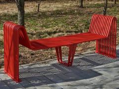 Panchina in acciaio con braccioli senza schienaleINFINITY   Panchina con braccioli - PUNTO DESIGN