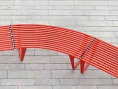Panchina curva modulare in acciaio senza schienaleINFINITY   Panchina curva - PUNTO DESIGN