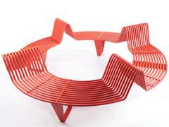 Panchina circolare in acciaio senza schienaleINFINITY   Panchina circolare - PUNTO DESIGN