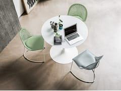 Tavolo rotondo in alluminio e vetroINFINITY | Tavolo rotondo - MIDJ