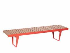 Panchina modulare in acciaio e legno senza schienaleINFINITY WOOD   Panchina in acciaio e legno - PUNTO DESIGN