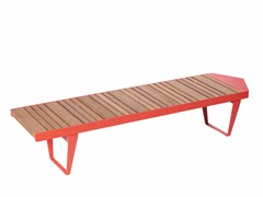 Panchina modulare in acciaio e legno senza schienaleINFINITY WOOD   Panchina senza schienale - PUNTO DESIGN