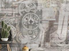 Carta da parati moderna industrial, PVC free, eco, lavabileINGRANAGGI - WALLPEPPER