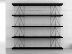 Libreria ufficio a giorno alta autoportante in legno impiallacciatoINGRAVITTA | Libreria ufficio alta - BK CONTRACT EQUIPMENT