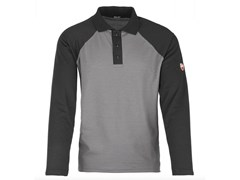 INNEX, INN-ASSEN LIGHT GREY/BLACK Polo ml con fianchetto 55% CO-45%PL (180 g/mq)